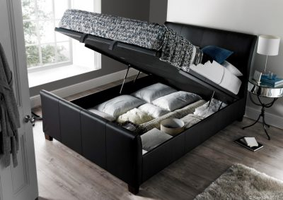 Allendale Ottoman Bed, Black, Open