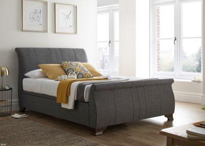 Bamburgh Ottoman Sleigh Bed, Charcoal