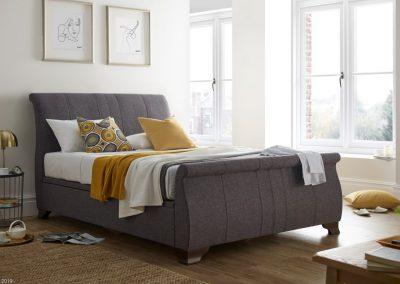 Bamburgh Ottoman Sleigh Bed lifestyle, Charcoal