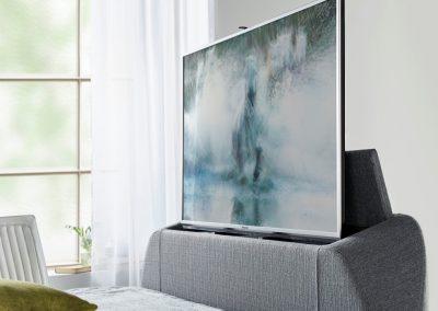 Barnard TV Bed, TV Showing, Artemis Ligt Grey
