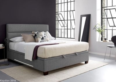 Chilton Ottoman Bed with USB and LED