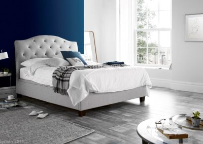 Lindisfarne Ottoman Bed, Stone Lifestyle Image