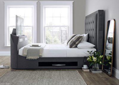 Titan Charcoal Media Bed, TV Up