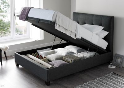 Walkworth Ottoman Bed, Slate, Open