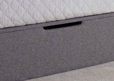 Whitburn Ottoman Bed, Platine Footend close up