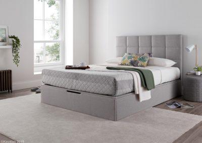 Whitburn Ottoman Bed , Silver