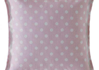 Button Spot Cushion Blush 40x40